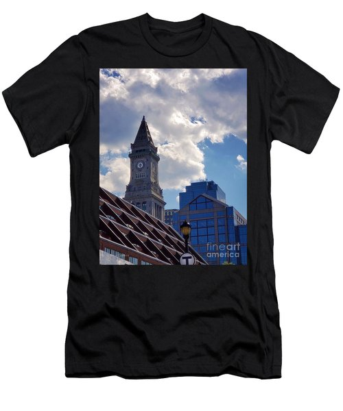 Custom House Clock Tower Men's T-Shirt (Athletic Fit)