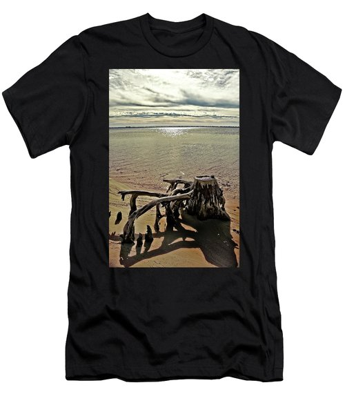 Cypress On The Beach Men's T-Shirt (Athletic Fit)