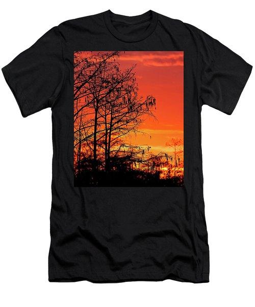 Cypress Swamp Sunset Men's T-Shirt (Athletic Fit)