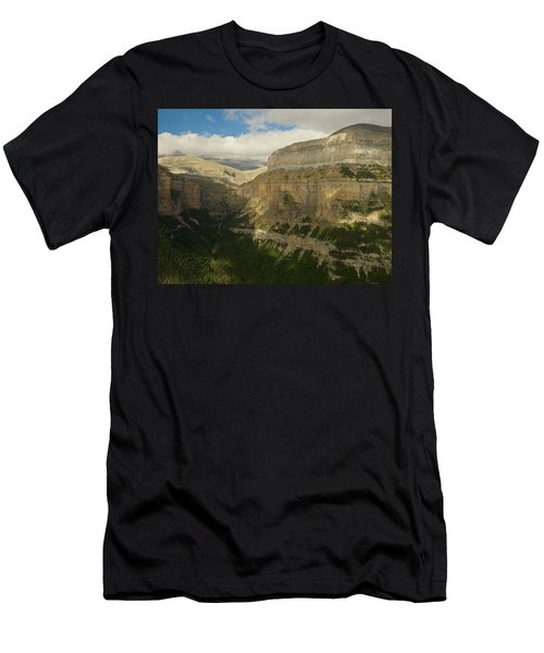 Men's T-Shirt (Athletic Fit) featuring the photograph Dappled Light In The Ordesa Valley by Stephen Taylor