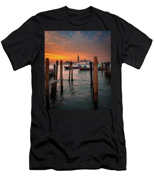 Men's T-Shirt (Athletic Fit) featuring the photograph Dawn Deliveries...venice.    by Tim Bryan