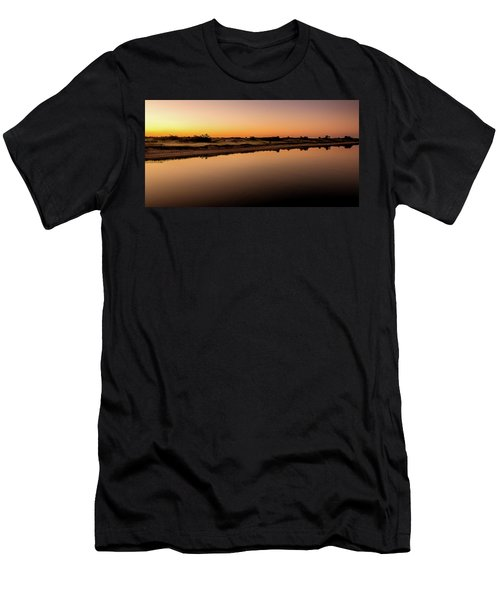Dawn Light, Ogunquit River Men's T-Shirt (Athletic Fit)