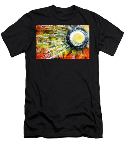 Men's T-Shirt (Athletic Fit) featuring the painting Dawn Of A New Sun by 'REA' Gallery