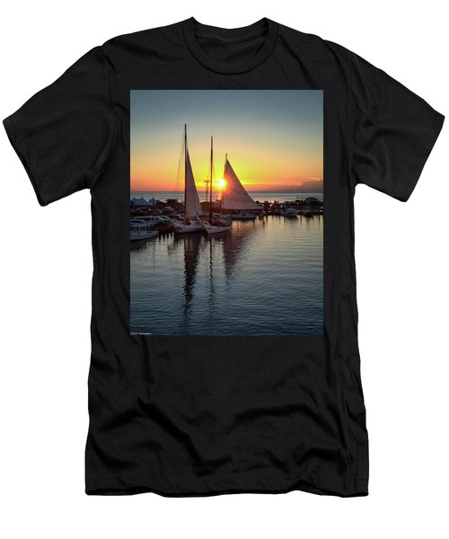 Deal Island Skipjack Race Sunset  Men's T-Shirt (Athletic Fit)