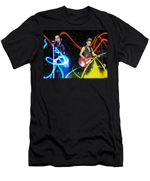 Men's T-Shirt (Athletic Fit) featuring the digital art Depeche Mode by Mark Baranowski