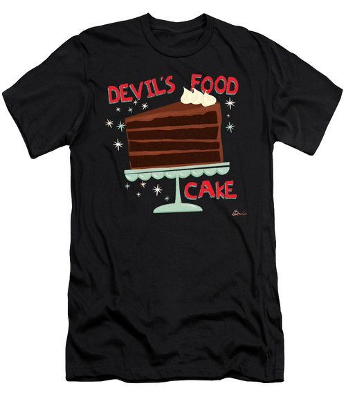Devils Food Cake An All American Classic Dessert Men's T-Shirt (Athletic Fit)