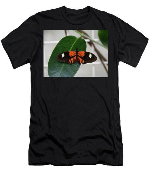 Doris Longwing On Leaf Men's T-Shirt (Athletic Fit)