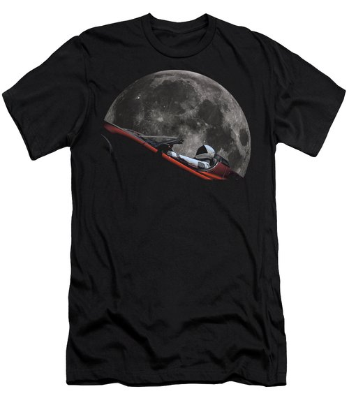 Driving Around The Moon Men's T-Shirt (Athletic Fit)