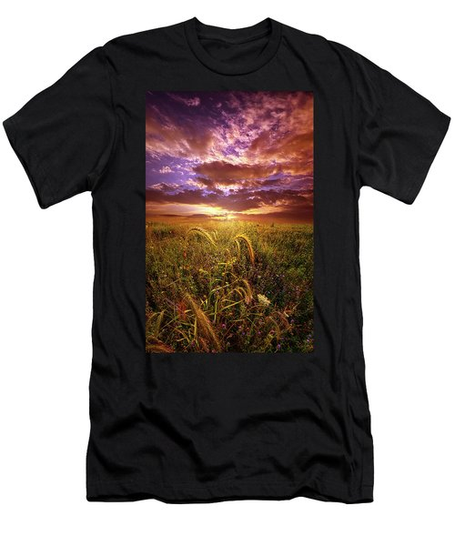 Men's T-Shirt (Athletic Fit) featuring the photograph Drwing Near by Phil Koch
