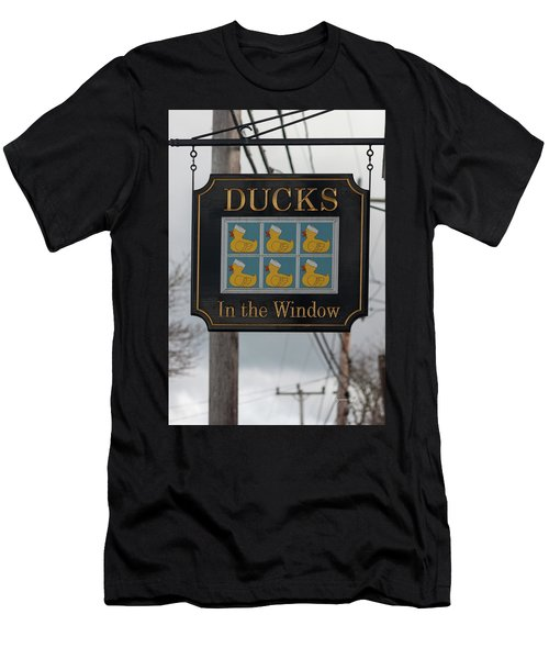 Ducks In The Window Men's T-Shirt (Athletic Fit)