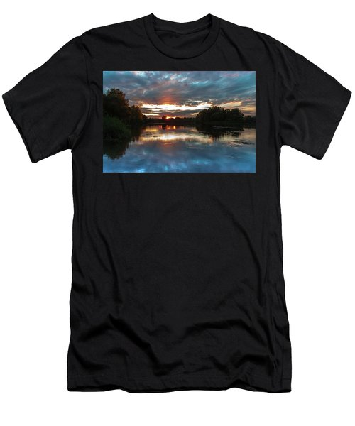Men's T-Shirt (Athletic Fit) featuring the photograph Dusk Aquarelle by Davor Zerjav