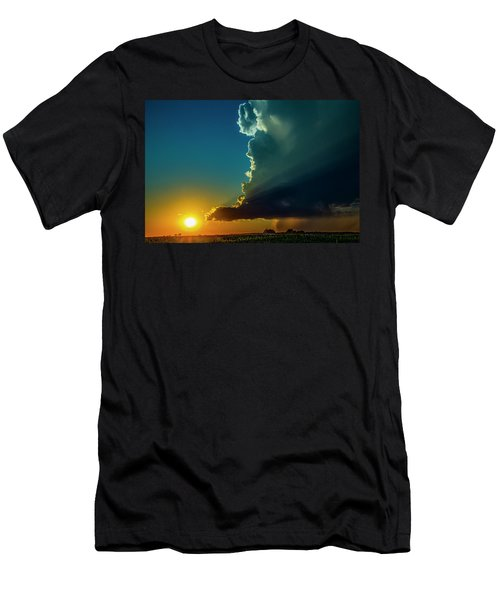 Dying Nebraska Thunderstorms At Sunset 068 Men's T-Shirt (Athletic Fit)