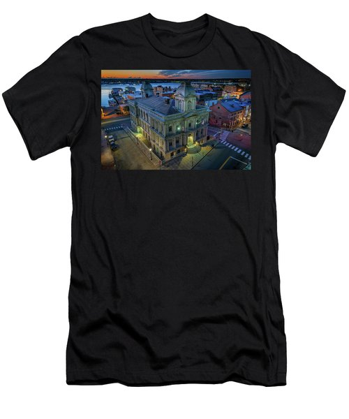 Men's T-Shirt (Athletic Fit) featuring the photograph Early Morning In The Old Port by Rick Berk