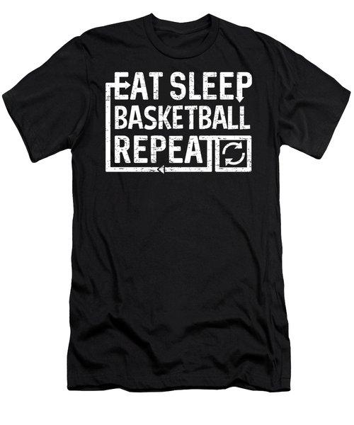 Eat Sleep Basketball Men's T-Shirt (Athletic Fit)