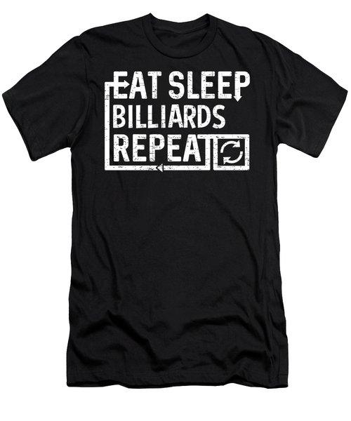 Eat Sleep Billiards Men's T-Shirt (Athletic Fit)