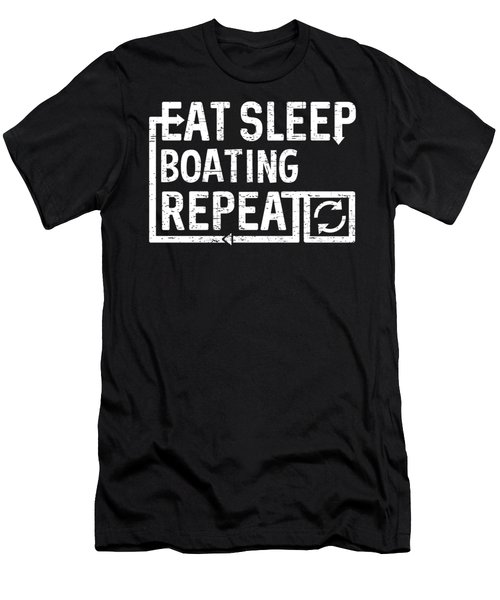 Eat Sleep Boating Men's T-Shirt (Athletic Fit)