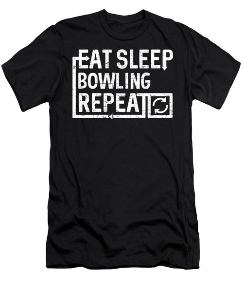Eat Sleep Bowling Men's T-Shirt (Athletic Fit)
