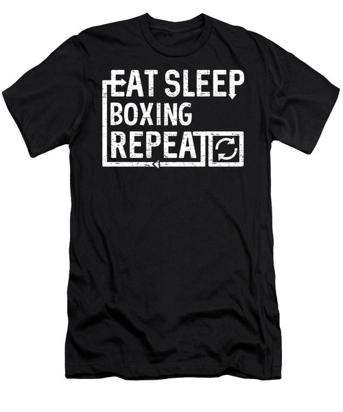 Eat Sleep Boxing Men's T-Shirt (Athletic Fit)