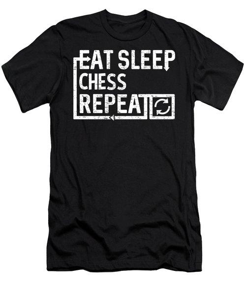 Eat Sleep Chess Men's T-Shirt (Athletic Fit)