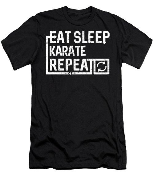 Eat Sleep Karate Men's T-Shirt (Athletic Fit)