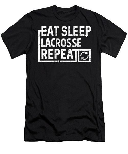 Eat Sleep Lacrosse Men's T-Shirt (Athletic Fit)