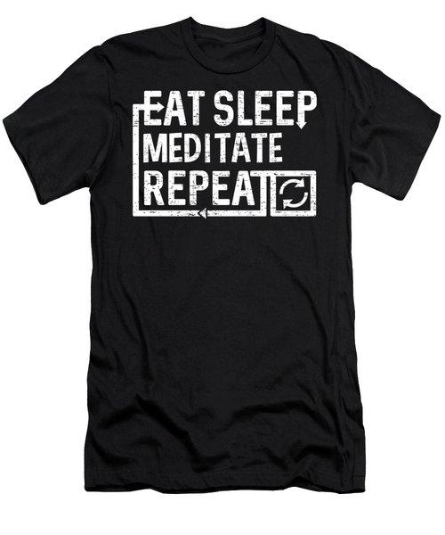 Eat Sleep Meditate Men's T-Shirt (Athletic Fit)