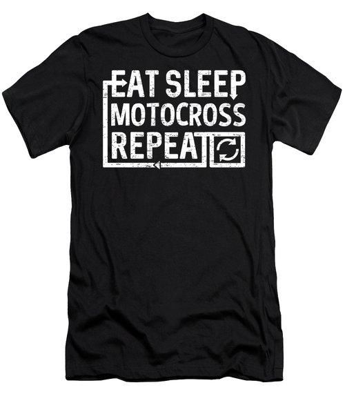 Eat Sleep Motocross Men's T-Shirt (Athletic Fit)