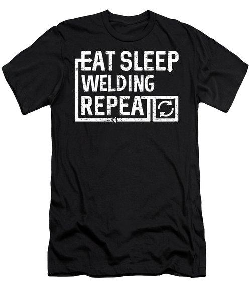 Eat Sleep Welding Men's T-Shirt (Athletic Fit)