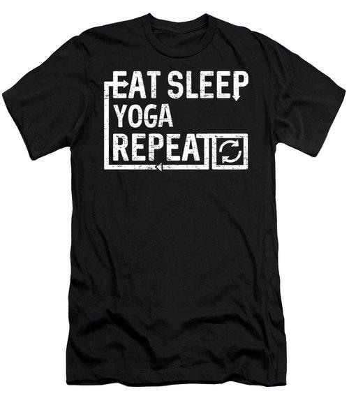 Eat Sleep Yoga Men's T-Shirt (Athletic Fit)
