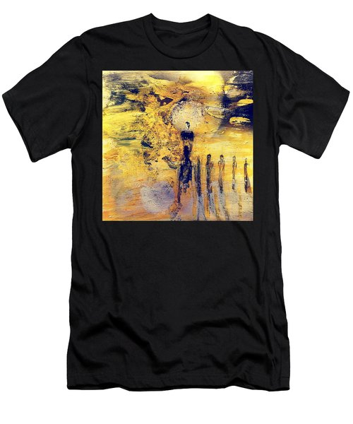 Men's T-Shirt (Athletic Fit) featuring the painting Elaine by 'REA' Gallery