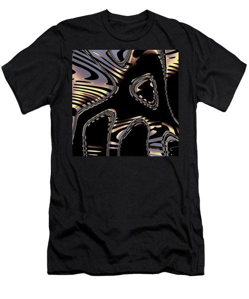 Elegant Black Fractal 2 Men's T-Shirt (Athletic Fit)