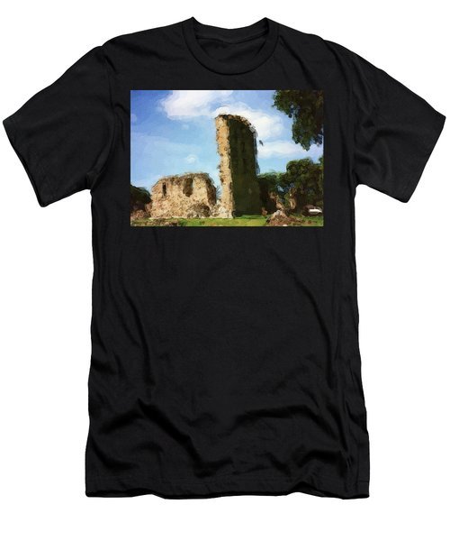 Elgin Cathedral Ruins Painting Men's T-Shirt (Athletic Fit)