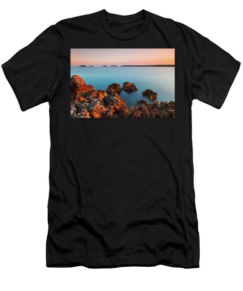 Men's T-Shirt (Athletic Fit) featuring the photograph Ember And Blue by Davor Zerjav