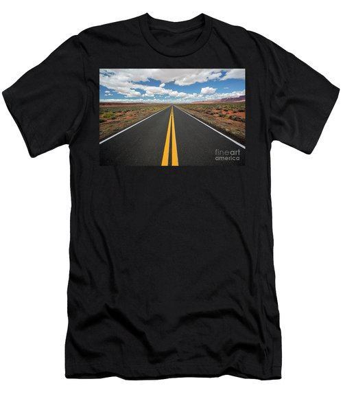 Empty Highway Men's T-Shirt (Athletic Fit)