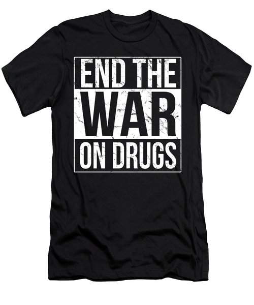 Men's T-Shirt (Athletic Fit) featuring the digital art End The War On Drugs by Flippin Sweet Gear