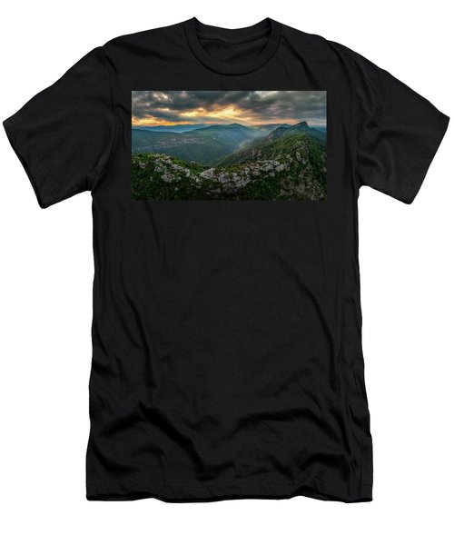 Epic Linville The Chimneys Men's T-Shirt (Athletic Fit)