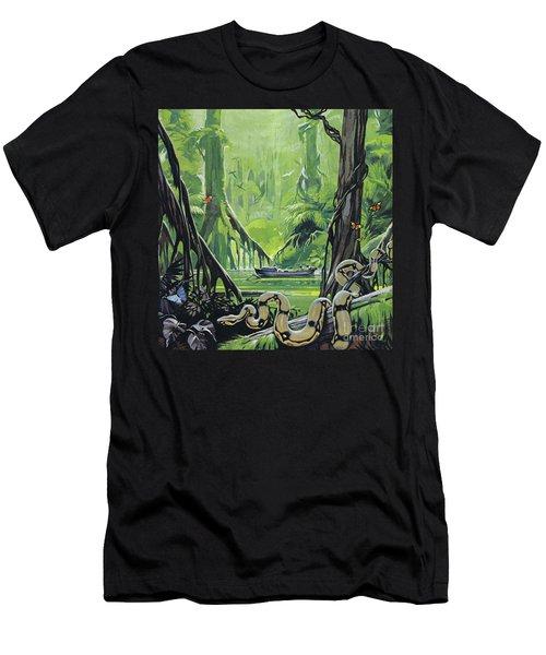 Exploring The River Amazon Men's T-Shirt (Athletic Fit)