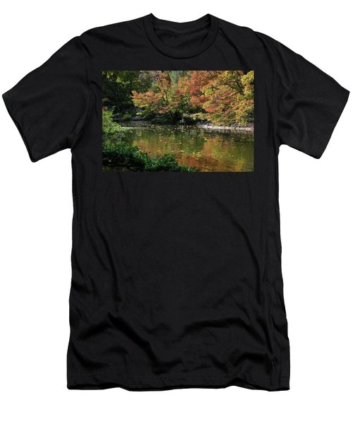 Fall At The Japanese Garden Men's T-Shirt (Athletic Fit)