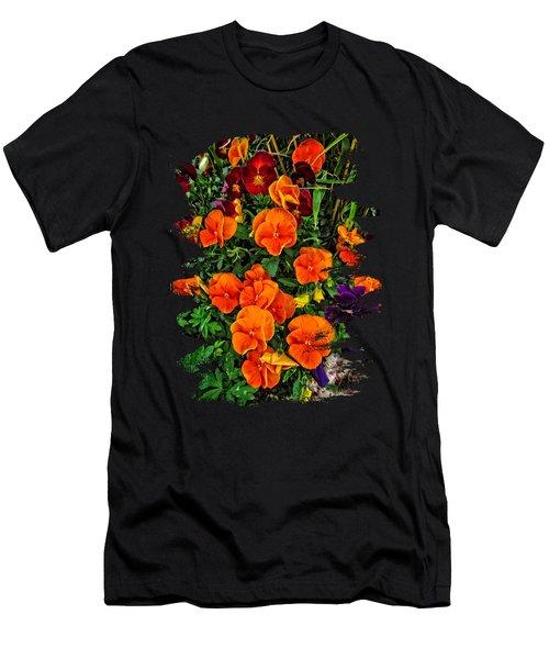Fall Pansies Men's T-Shirt (Athletic Fit)