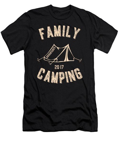Family Camping Adventures 2017 Men's T-Shirt (Athletic Fit)