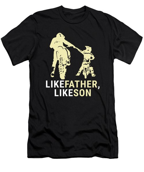 Dirt Biker Riders Motorcycle Bikers Fmx Motocross Father And Son Racers Gifts Men's T-Shirt (Athletic Fit)