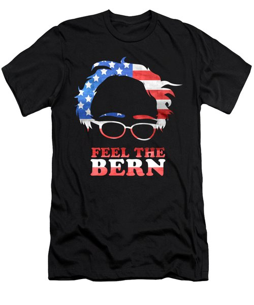 Feel The Bern Patriotic Men's T-Shirt (Athletic Fit)
