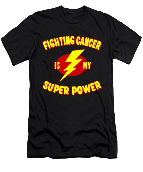 Fighting Cancer Is My Super Power Men's T-Shirt (Athletic Fit)