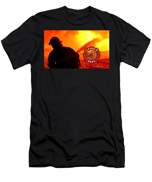 Fire Fighting 6 Men's T-Shirt (Athletic Fit)