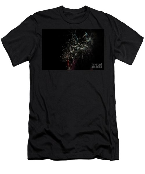 Fireworks Display With Multiple Colors Men's T-Shirt (Athletic Fit)