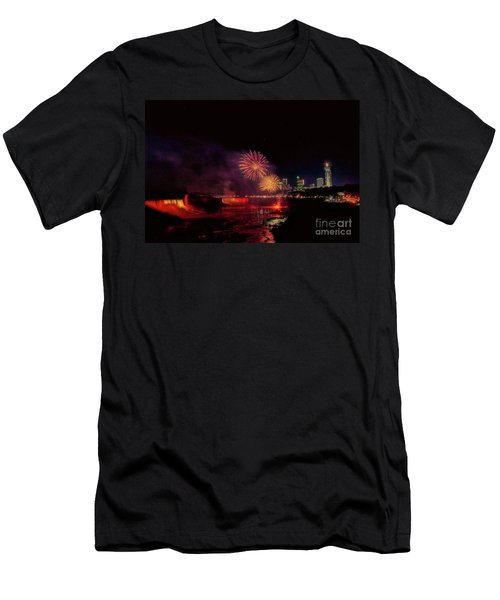 Fireworks Over The Falls. Men's T-Shirt (Athletic Fit)