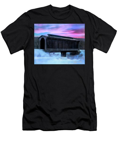 Fisher Raiilroad Covered Bridge Wolcott Vermont. Men's T-Shirt (Athletic Fit)