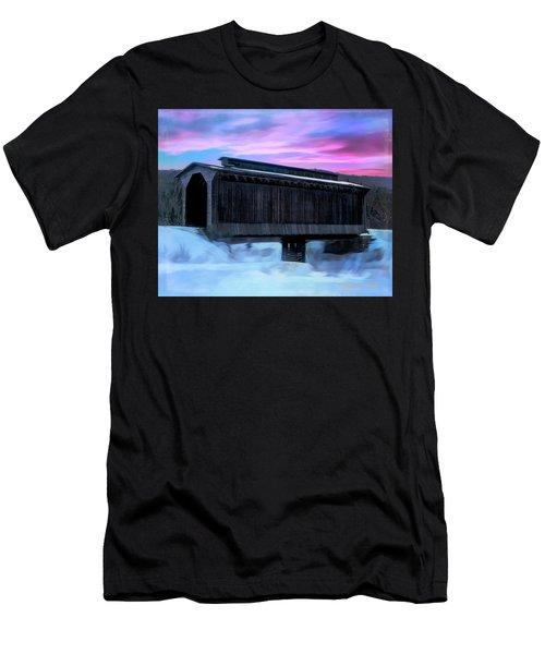 Fisher Raiilroad Covered Bridge Wolcott Vermont. Men's T-Shirt (Athletic Fit)