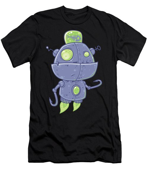 Fishing Robot Men's T-Shirt (Athletic Fit)