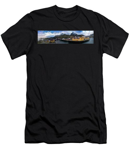 Fishing Village A On Lofoten Men's T-Shirt (Athletic Fit)